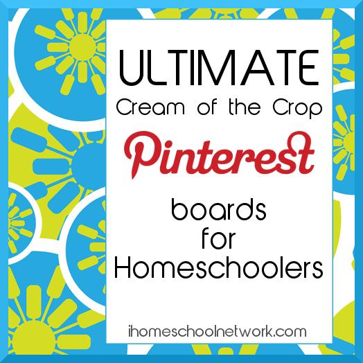 Ultimate Cream of the Crop Pinterest boards for Homeschoolers by iHomeschool Network