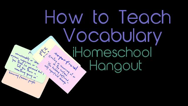 vocabulary for homeschool