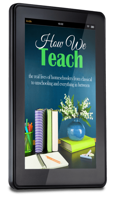 How We Teach: the real lives of homeschoolers from classical to unschooling and everything in between is the newest collaborative book from the bloggers at iHomeschool Network.