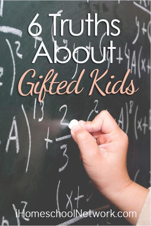 6 Truths About Gifted Kids | @iHomeschoolNet | #ihsnet