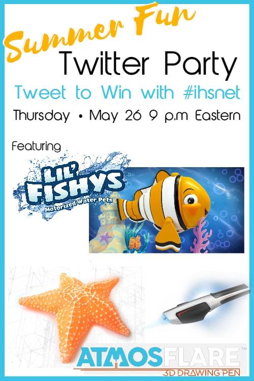 Summer Fun Twitter Party, May 26, 9 p.m. ET   #ihsnet