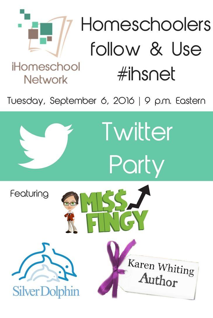Super Fun Homeschool Twitter Party 9/6/16, 9 p.m. ET | iHomeschoolNetwork.com #ihsnet