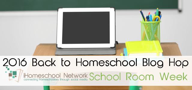 8th Annual Back to Homeschool Blog Hop: School Room Week