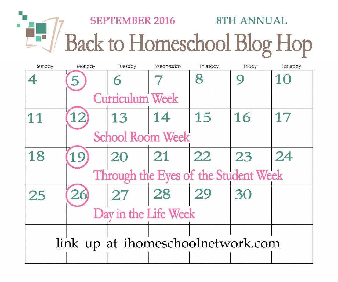 8th Annual Back to Homeschool Blog Hop