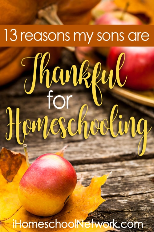 13 Reasons My Sons Are Thankful For Homeschooling