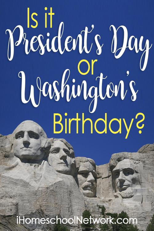 President's Day or George Washington's Birthday?