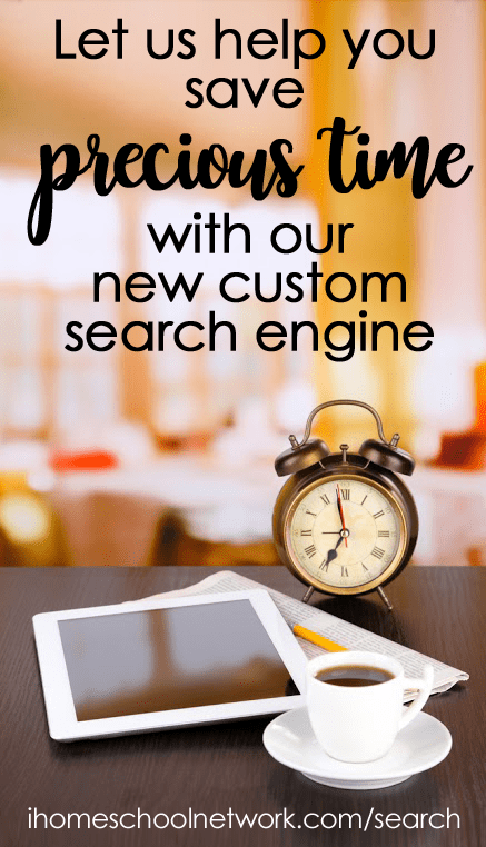 Looking for something specific? Do you want to weed out the fluff and search only the very best homeschool blogs? Here's the tool you need. This custom search will hunt through the 130+ domains of iHN bloggers to reveal top notch articles about any topic you search.
