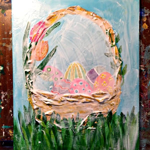 A Fun Easter Art Piece for Homeschoolers