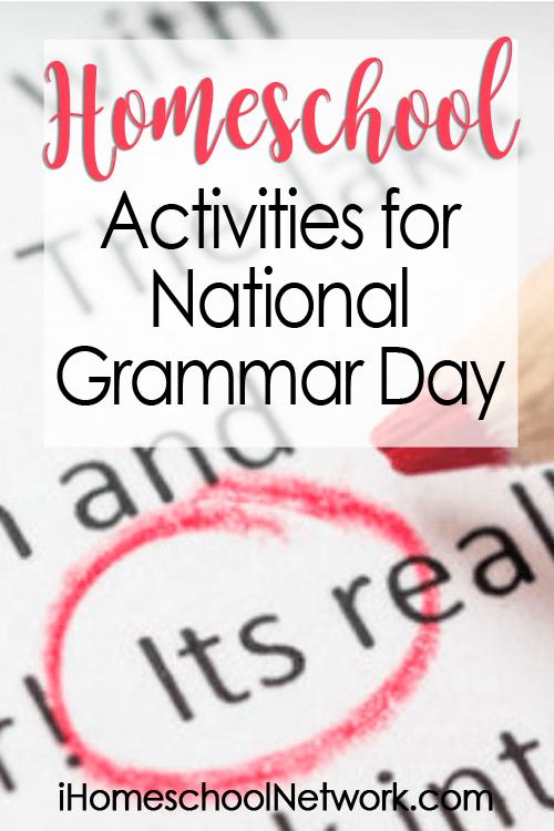 Homeschool Activities for National Grammar Day