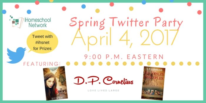 #ihsnet Spring Twitter Party with @iHomeschoolNet   April 4, 2017 9 p.m. Eastern