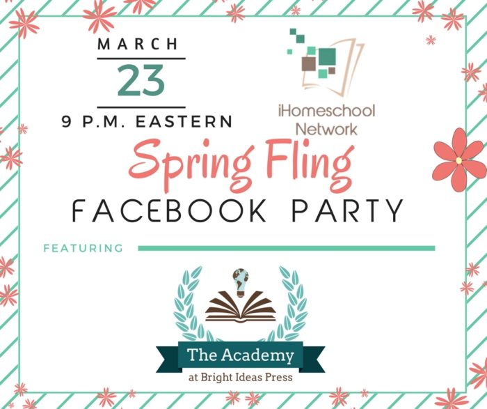 March 23, 9 p.m. Eastern Spring Fling Facebook Party | iHomeschool Network #ihsnet