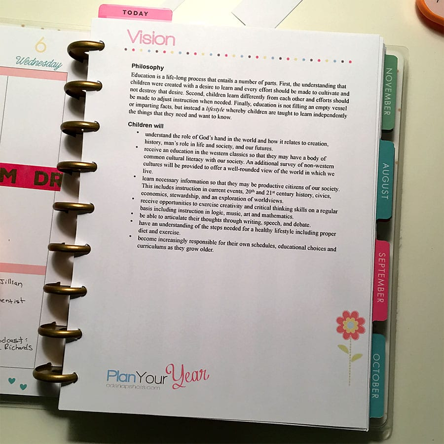 7 Must-Have Tools for Your Homeschool Planner Vision Statement