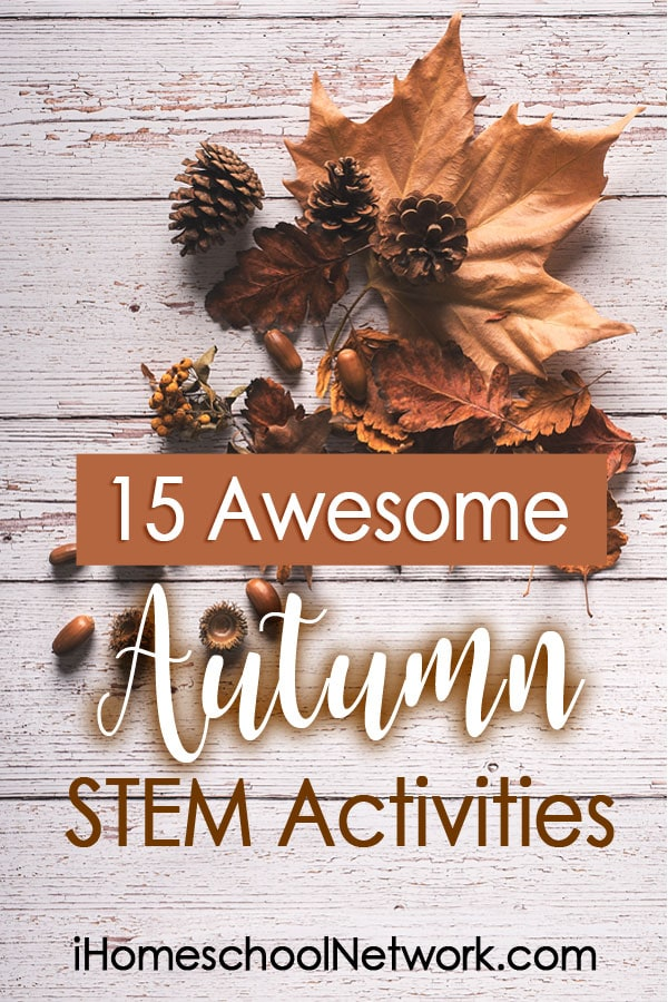 Now that you're settling into a normal, daily homeschool routine, it's the perfect time to add in something new, like this list of Autumn STEM activities.