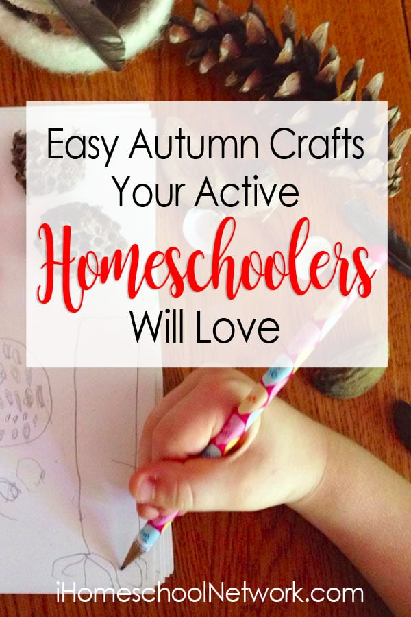 Simple Autumn nature crafts for kids! These fun, hands-on activities include ideas for all ages, perfect for the multi-age homeschooling classroom.