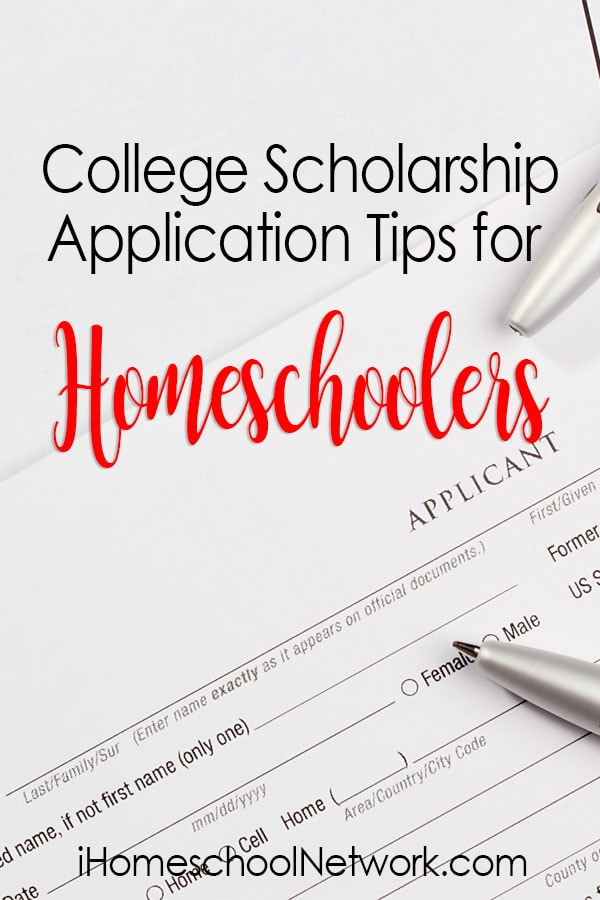 College Scholarship Application Tips for Homeschoolers