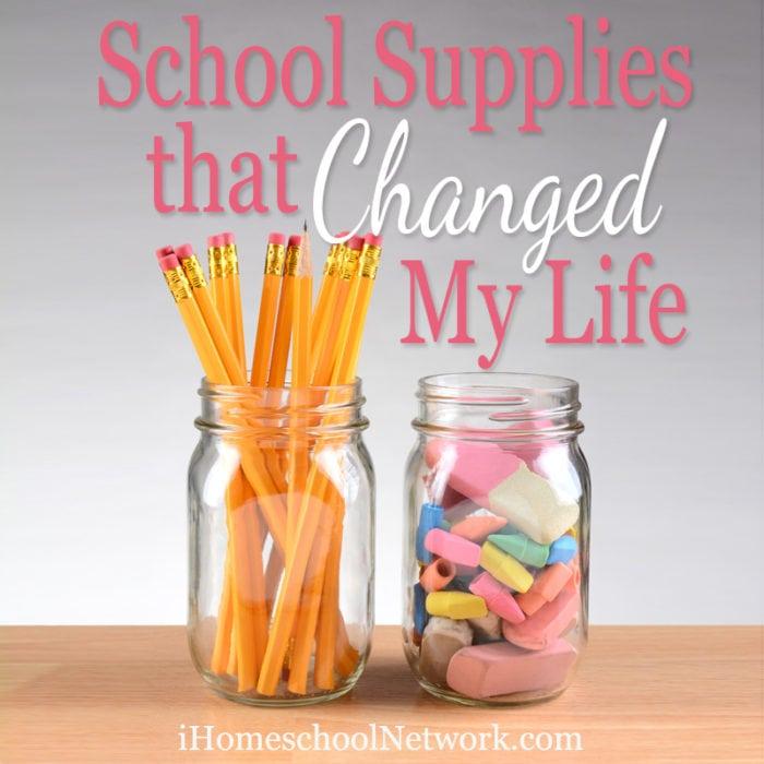 School Supplies that Changed my Life | iHomeschoolNetwork.com #ihsnet