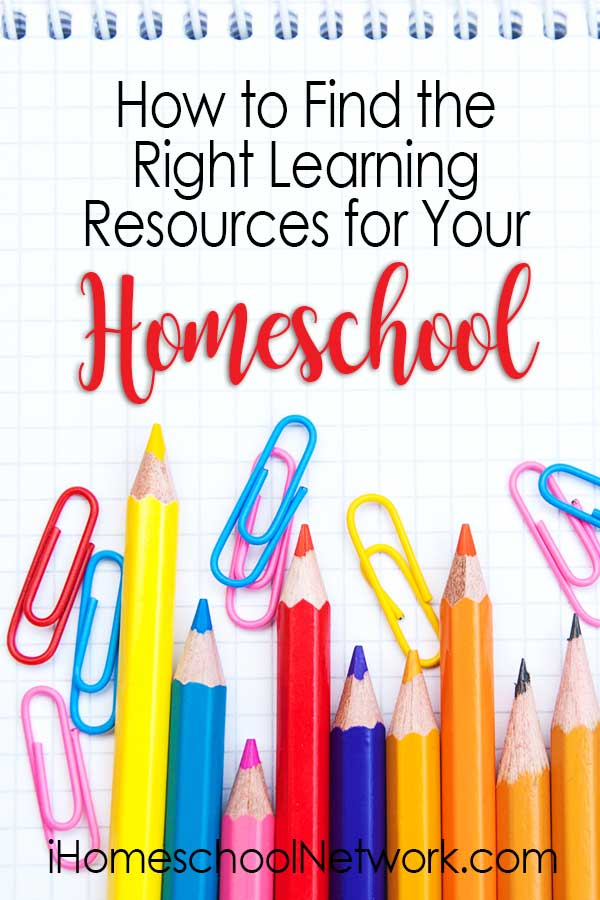 How to Find the Right Learning Resources for Your Homeschool