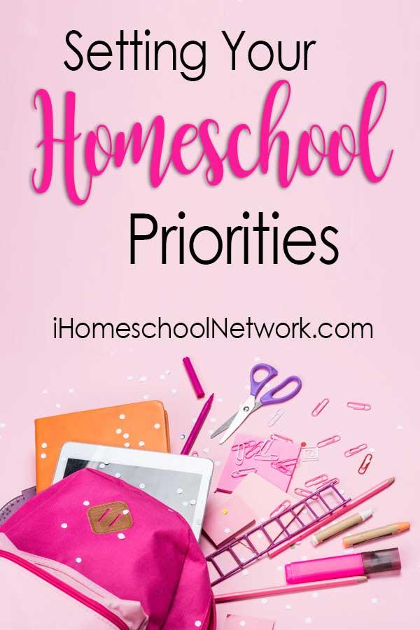 Setting your Homeschooling Priorities