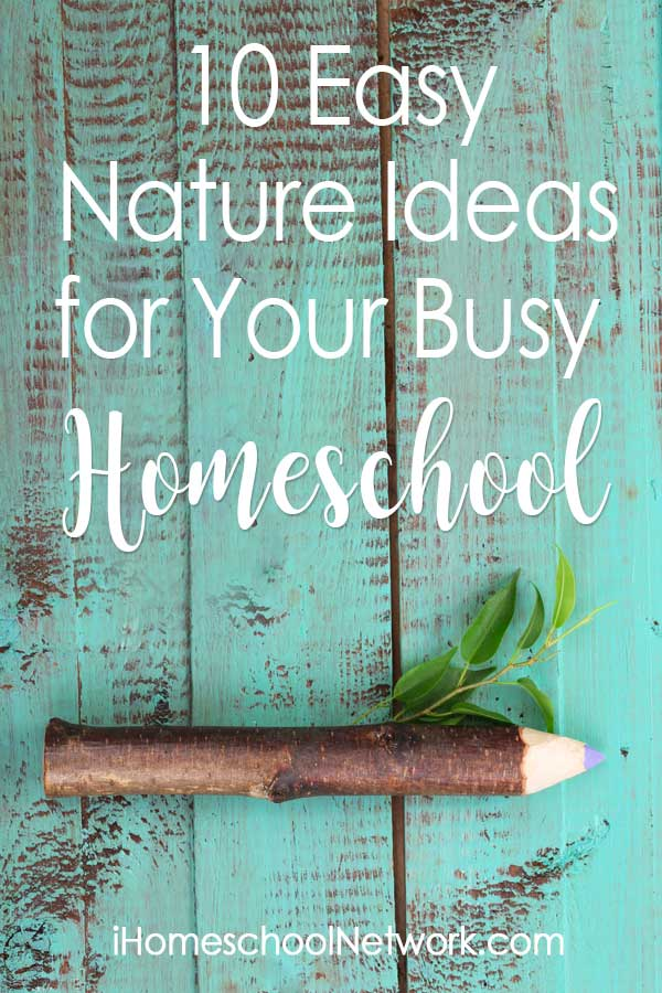 10 Easy Nature Ideas for Your Busy Homeschool