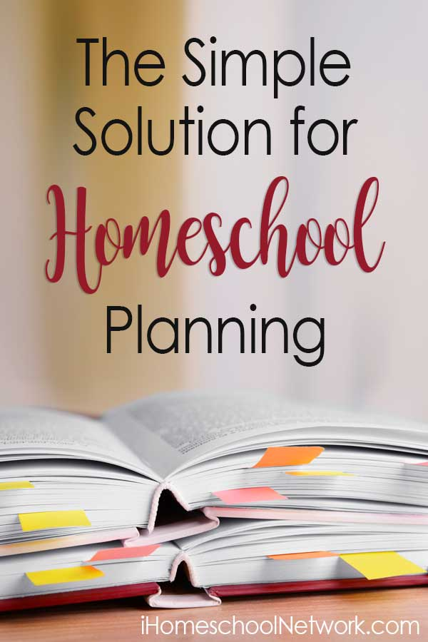 The Simple Solution for Homeschool Planning