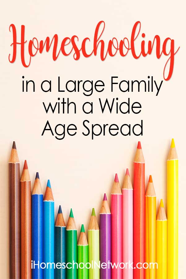 Homeschooling in a Large Family with a Wide Age Spread