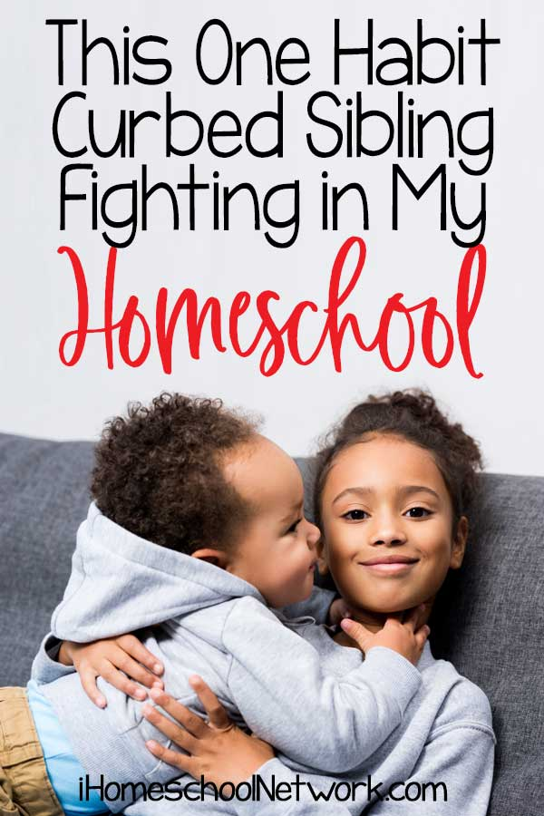 This One Habit Curbed Sibling Fighting in My Homeschool