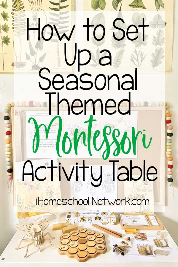 How to Set Up a Seasonal Themed Montessori Activity Table