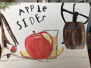 An Easy Way to Teach Art is Using Real Life Examples Like this Apple and Apple Cider Press