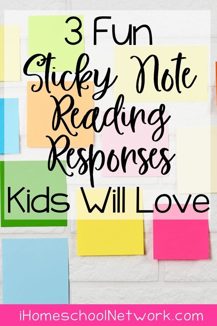 3 Fun Sticky Note Reading Responses Kids Will Love
