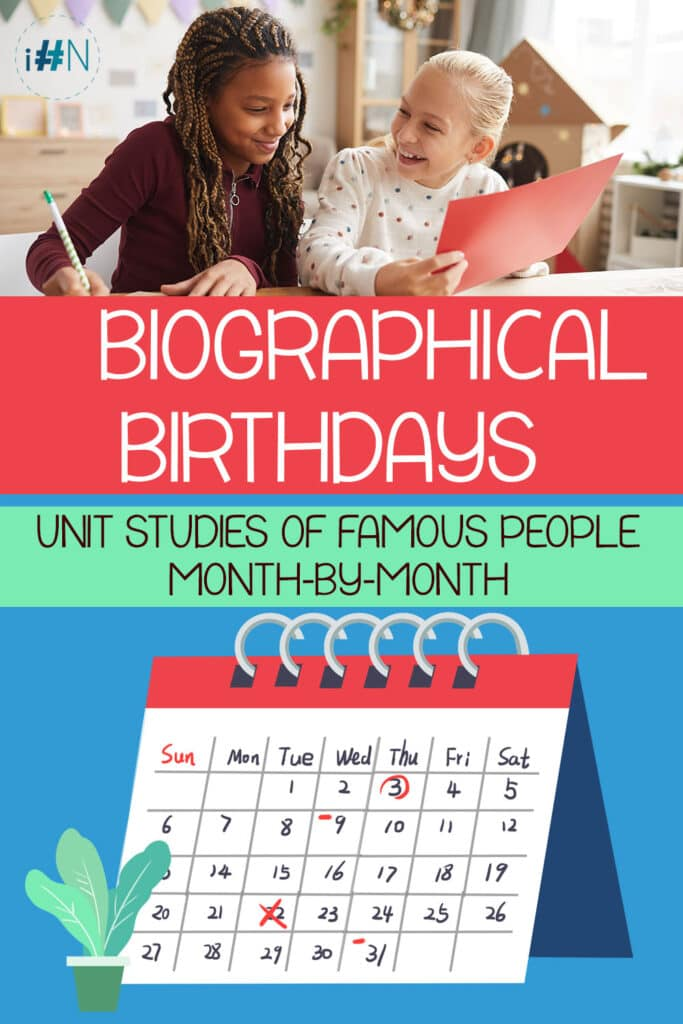 Biographical Birthdays: Unit Studies of Famous People by Month